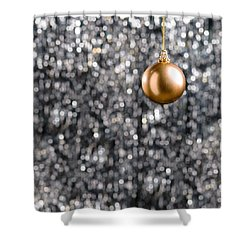 Shower Curtain featuring the photograph Bronze Christmas  by Ulrich Schade