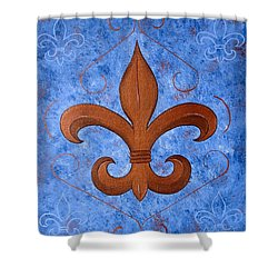 Bronze Fleur De Lis Shower Curtain
