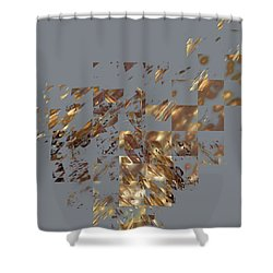 Bronze On Gray Square Shower Curtain
