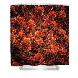 Bronze Roses Shower Curtain