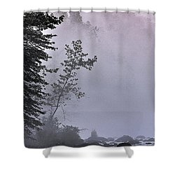 Brooding River Shower Curtain