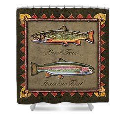 Brook And Rainbow Trout Shower Curtain