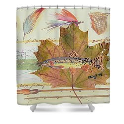 Brook Trout On Fly #2 Shower Curtain