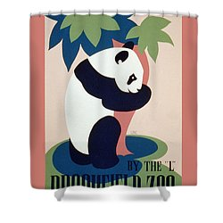 Brookfield Zoo Panda Shower Curtain by Unknown