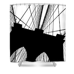 Brooklyn Bridge Architectural View Shower Curtain by Az Jackson