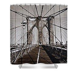 Brooklyn Bridge By Art Farrar Photographs, Ny 1930 Shower Curtain