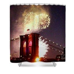 Brooklyn Bridge Celebration Shower Curtain