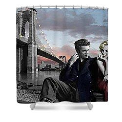 Brooklyn Bridge Shower Curtain by Chris Consani