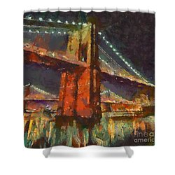 Brooklyn Bridge Shower Curtain by Dragica  Micki Fortuna