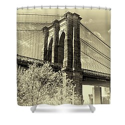 Brooklyn Bridge Shower Curtain by John Hoey