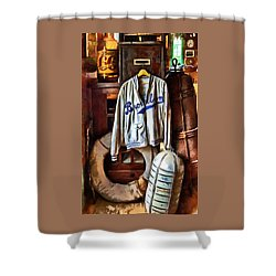 Shower Curtain featuring the photograph Brooklyn Dodgers Baseball  by Thom Zehrfeld