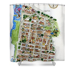 Brooklyn Heights Map Shower Curtain