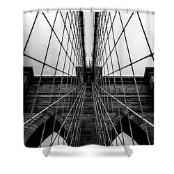 Brooklyn's Web Shower Curtain by Az Jackson