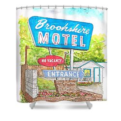Brookshire Motel In Route 66, Tulsa, Oklahoma Shower Curtain