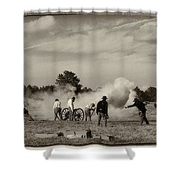 Brooksville Raid Shower Curtain by Carolyn Dalessandro
