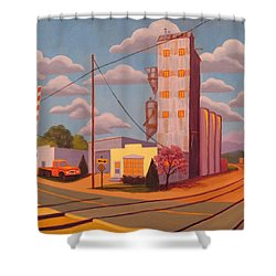 Broomfield Grain Elevator Shower Curtain