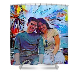Brother And Sister Love Shower Curtain