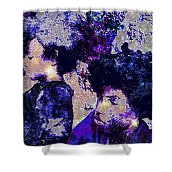 Brothers Blue Shower Curtain
