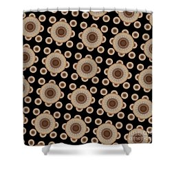 Shower Curtain featuring the digital art Brown And Black Mandala Pattren by Saribelle Rodriguez