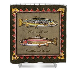 Brown And Cutthroat Trout Shower Curtain