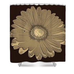 Shower Curtain featuring the digital art Brown Art by Milena Ilieva