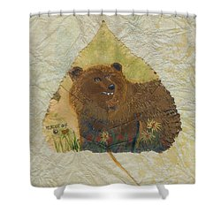 Brown Bear Shower Curtain