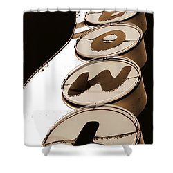 Brown Bowl Shower Curtain