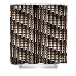 Brown Dot Shower Curtain