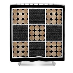 Rustic Dots Design Shower Curtain