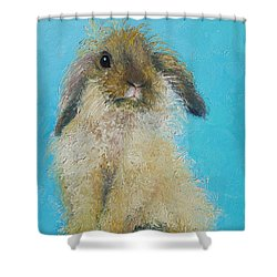 Brown Easter Bunny Shower Curtain