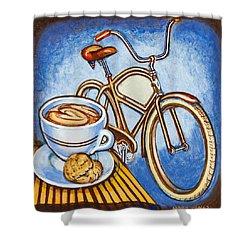 Brown Electra Delivery Bicycle Coffee And Amaretti Shower Curtain