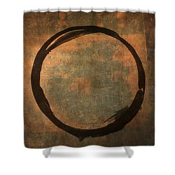 Brown Enso Shower Curtain