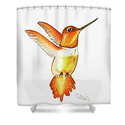 Brown Hummer Shower Curtain