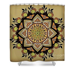 Brown Opal Shower Curtain