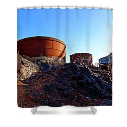 Brownes Shaft Junction Mine  Shower Curtain