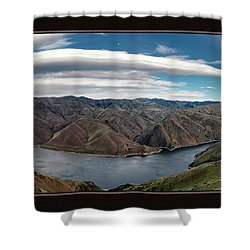Shower Curtain featuring the photograph Brownlee Triptych by Leland D Howard