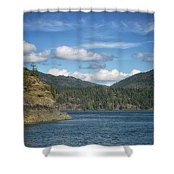 Browns Bay Shower Curtain by Randy Hall