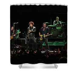 Bruce Springsteen And The E Street Band Shower Curtain by Melinda Saminski