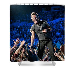 Shower Curtain featuring the photograph Bruce Springsteen La Sports Arena by Jeff Ross