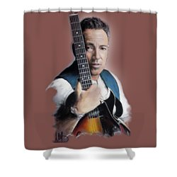 Bruce Springsteen Shower Curtain by Melanie D