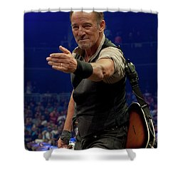 Shower Curtain featuring the photograph Bruce Springsteen. Pittsburgh, Sept 11, 2016 by Jeff Ross