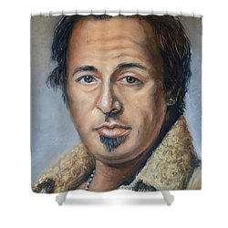 Bruce Springsteen Portrait Shower Curtain