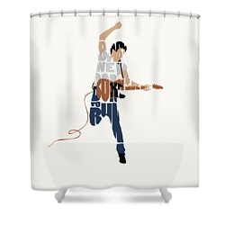 Bruce Springsteen Typography Art Shower Curtain
