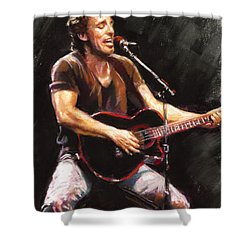 Bruce Springsteen  Shower Curtain by Ylli Haruni