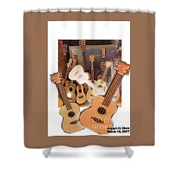 Bruce's Ukuleles Shower Curtain
