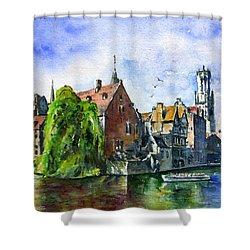 Bruges Belgium Shower Curtain by John D Benson