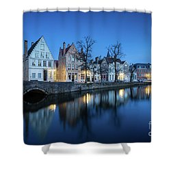 Magical Brugge Shower Curtain by JR Photography