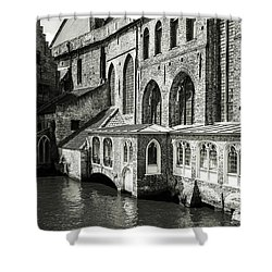 Bruges Medieval Architecture Shower Curtain