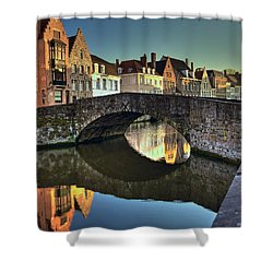 Bruges Twighlight Shower Curtain