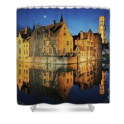 Brugge Shower Curtain by JR Photography